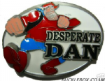 DESPERATE DAN BELT BUCKLE + display stand